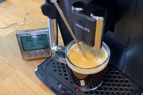 Philips EP2220/10 Kaffee Temperatur