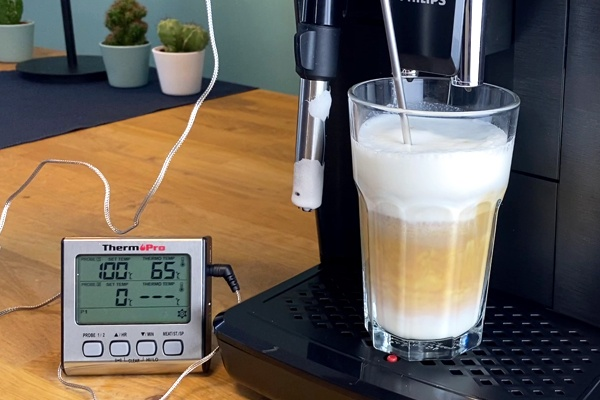 Philips EP 2220 Latte Macchiato Temperatur messen